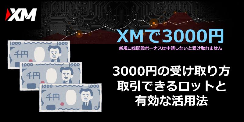 xm 3000円